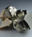 Calcite on Pyrite