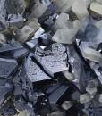 Twinned and truncated Galena, Quartz, Calcite