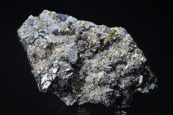 gem Sphalerite var.Cleiophane, Chalcopyrite, Quartz