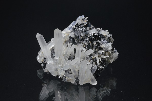 Quartz on Sphalerite, Galena, Pyrite