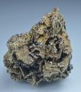 Pyrrhotite on Calcite, Quartz, Sphalerite