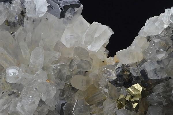Quartz, Galena, Chalcopyrite, Sphalerite