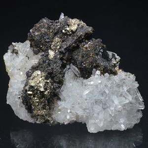 gem Sphalerite var.Cleiophane, Quartz, Pyrite