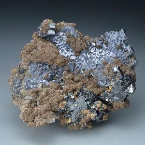 thin Galena plates, Siderite, Sphalerite, Quartz