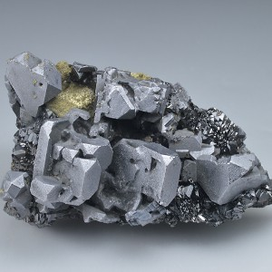 Galena on Chalcopyrite, Sphalerite