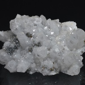 Quartz with growth phantoms, Pyrite, Sphalerite