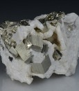 Pyrite on Siderite, Calcite