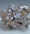 Skeletal Galena, Siderite, Sphalerite, Quartz
