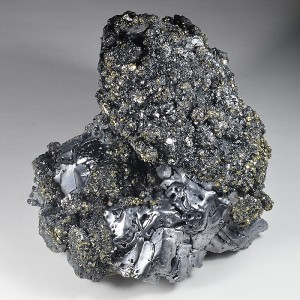 Sphalerite and Chalcopyrite on melted habit Galena