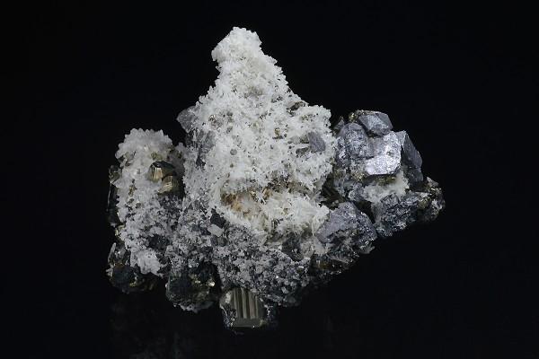 Quartz, Galena, Chalcopyrite, Pyrite, Sphalerite