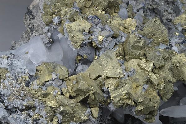 Chalcopyrite, Galena, Sphalerite, Quartz, Pyrite