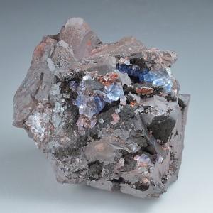 Fluorite on Hematite