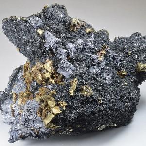 Skeletal Galena, Sphalerite, Chalcopyrite, Cleiophane, Pyrite