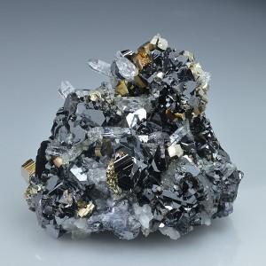 Sphalerite, Quartz, Pyrite, Galena