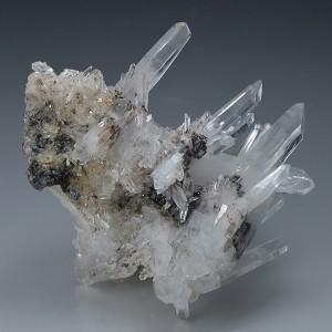 Bi-terminated Quartz with Sphalerite inclusions