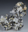 Quartz, Chalcopyrite, Galena, Sphalerite, Calcite