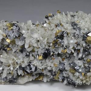 Quartz, Chalcopyrite, Galena, Sphalerite, Pyrite