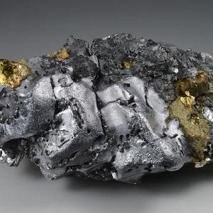 Melted habit Galena, Sphalerite, Chalcopyrite, Pyrite