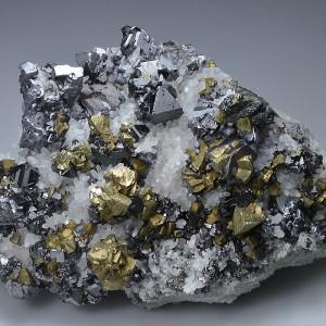 Skeletal Galena, Chalcopyrite, Sphalerite, Quartz