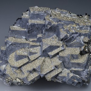 Pyrite on Galena