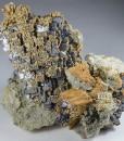 Skeletal Galena, Chalcopyrite, Quartz, Dolomite, Calcite
