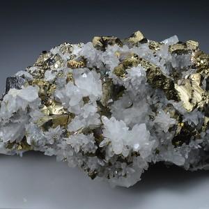 Chalcopyrite, Quartz, Pyrite
