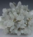 Pyrite on Quartz, Chlorite