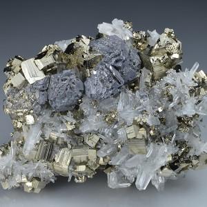 Pyrite, Quartz, Galena