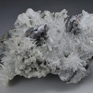Skeletal Galena, Quartz, Pyrite, Sphalerite, Chlorite