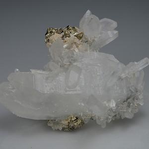 Quartz, Pyrite, Calcite