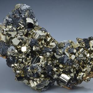 Pyrite, Chalcopyrite, Sphalerite, Galena, Calcite