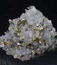 Iridescent Chalcopyrite, Quartz with inclusions