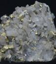 Chalcopyrite on Quartz