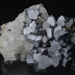 Truncated Galena, Quartz, Pyrite, Sphalerite