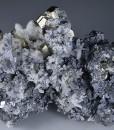 Pyrite, skeletal Galena, Sphalerite, Quartz