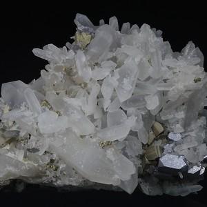 Quartz, Galena, Pyrite, Chalcopyrite