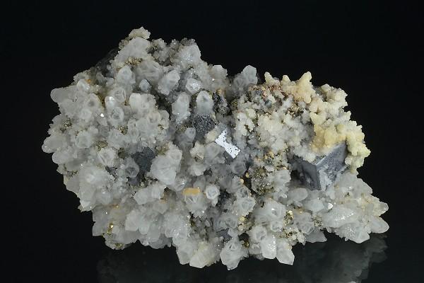Specimen,Mineral Collection Iridescent Chalcopyrite,Quartz,Sphalerite,Calcite from Krushev dol mine,Madan,Bulgaria,Chalcedony