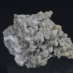 Pyrite on two generations Quartz