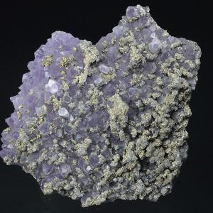 Quartz var.Amethyst, Chalcopyrite, Pyrite