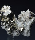 Pyrite, Quartz, Sphalerite, Chalcopyrite - floater