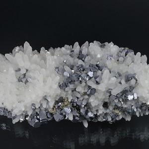 Quartz, truncated Galena, Pyrite, gem Sphalerite var.Cleiophane, Chalcopyrite