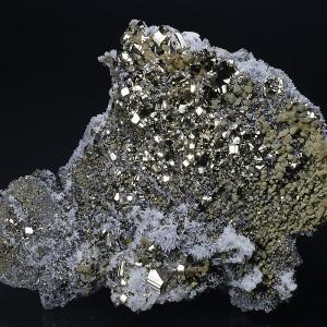 Pyrite, Quartz, Chalcopyrite, Sphalerite - floater