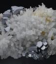 Truncated Galena on Quartz, Pyrite