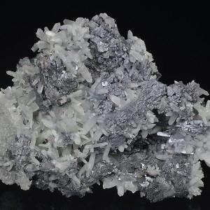 Thin Galena plates, Quartz, Sphalerite, Chalcopyrite - floater