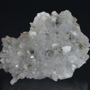 Quartz, Calcite, Pyrite, Rhodochrosite