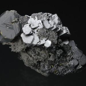 skeletal Galena, gem Sphalerite var.Cleiophane, Quartz, Chalcopyrite