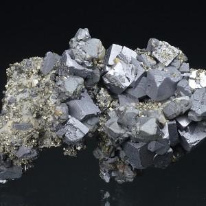 Galena, gem Sphalerite var.Cleiophane, Pyrite, Calcite - floater