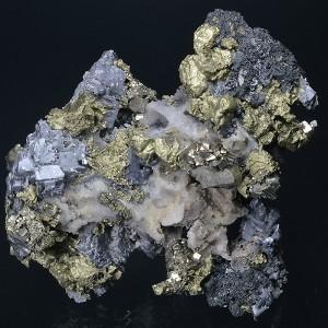 Galena, Chalcopyrite, Pyrite, Sphalerite, Quartz, Calcite