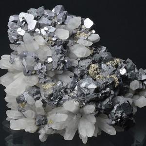 gem Sphalerite var.Cleiophane, Quartz, Chalcopyrite, Galena, Pyrite