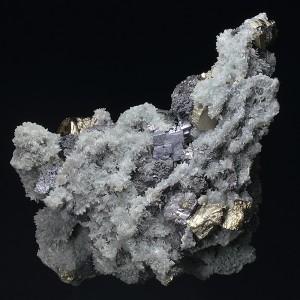 Pyrite, Quartz, Sphalerite, Chlorite, Galena